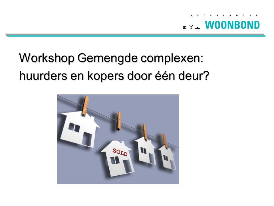Workshop Gemengde complexen: huurders en kopers door één deur?