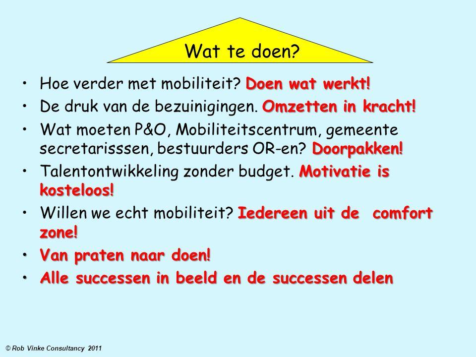 Doen wat werkt!Hoe verder met mobiliteit? Doen wat werkt! Omzetten in kracht!De druk van de bezuinigingen. Omzetten in kracht! Doorpakken!Wat moeten P