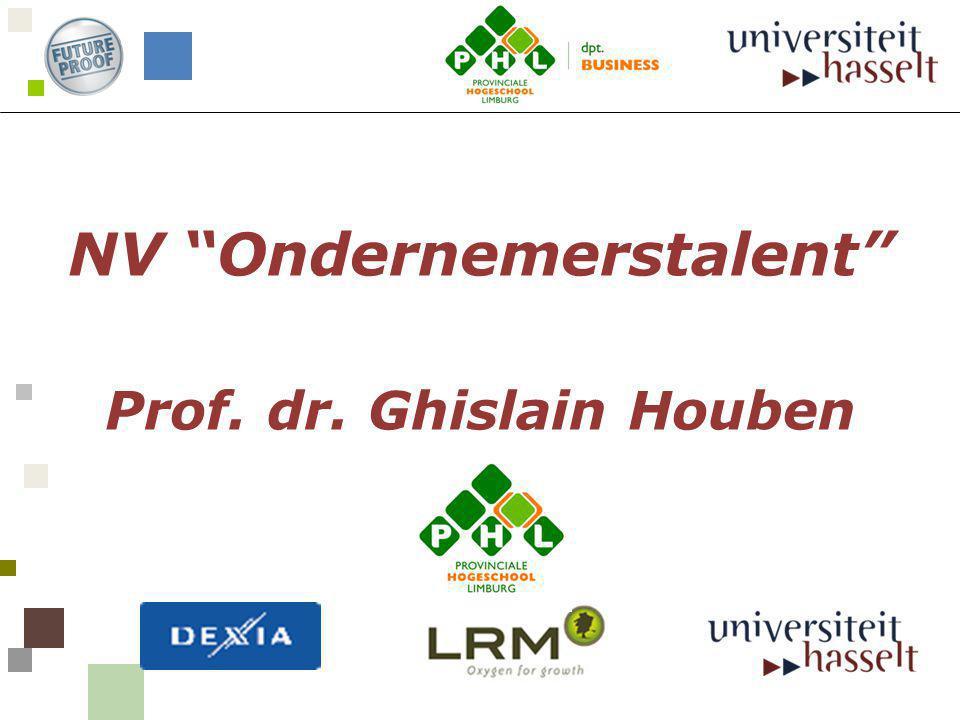 """NV """"Ondernemerstalent"""" Prof. dr. Ghislain Houben"""