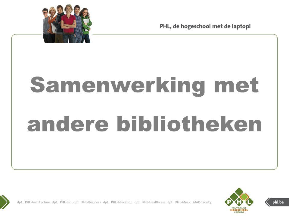 1. Ga naar www.phl.be en klik op quick links .www.phl.be PHL-catalogus