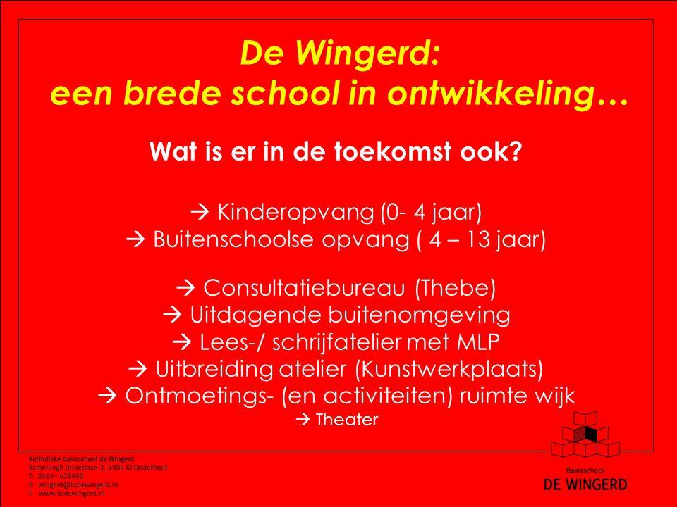 De Wingerd: een brede school in ontwikkeling… Wat is er in de toekomst ook.