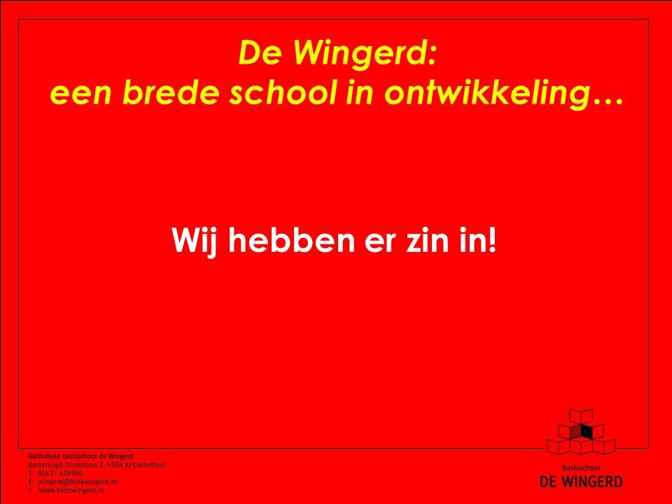 De Wingerd: een brede school in ontwikkeling… Wij hebben er zin in!