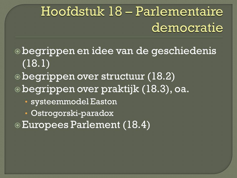  begrippen en idee van de geschiedenis (18.1)  begrippen over structuur (18.2)  begrippen over praktijk (18.3), oa.