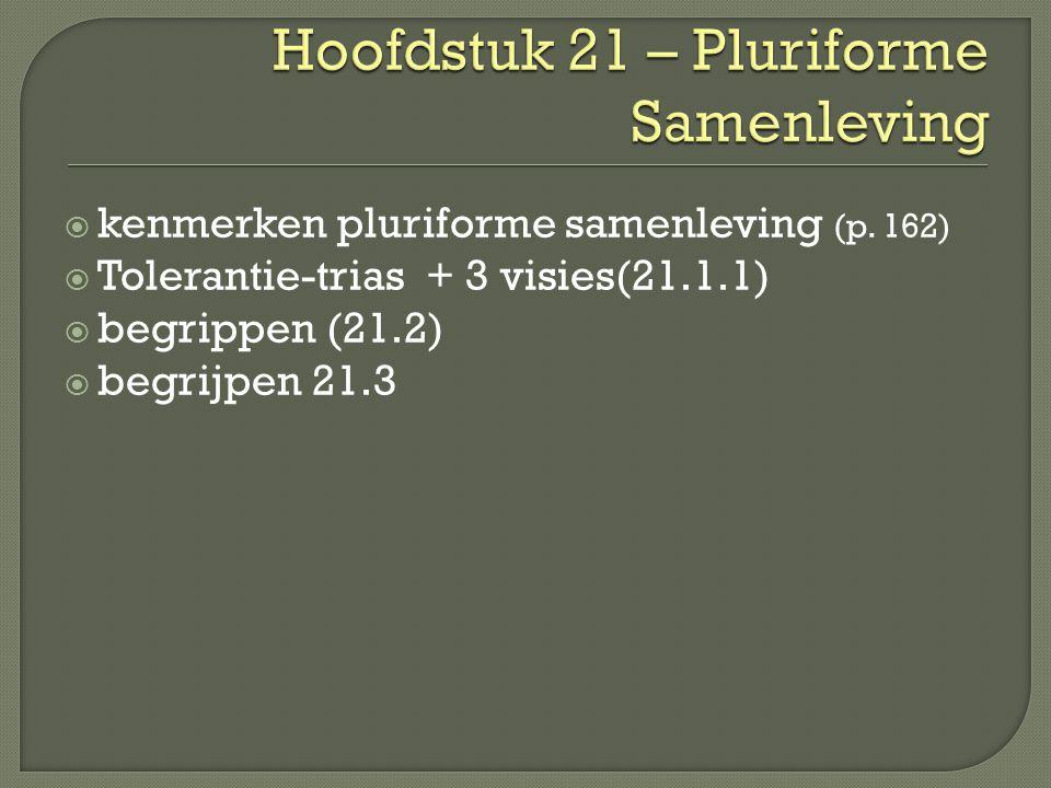  kenmerken pluriforme samenleving (p.