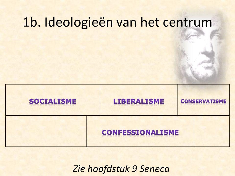 1b. Ideologieën van het centrum Zie hoofdstuk 9 Seneca