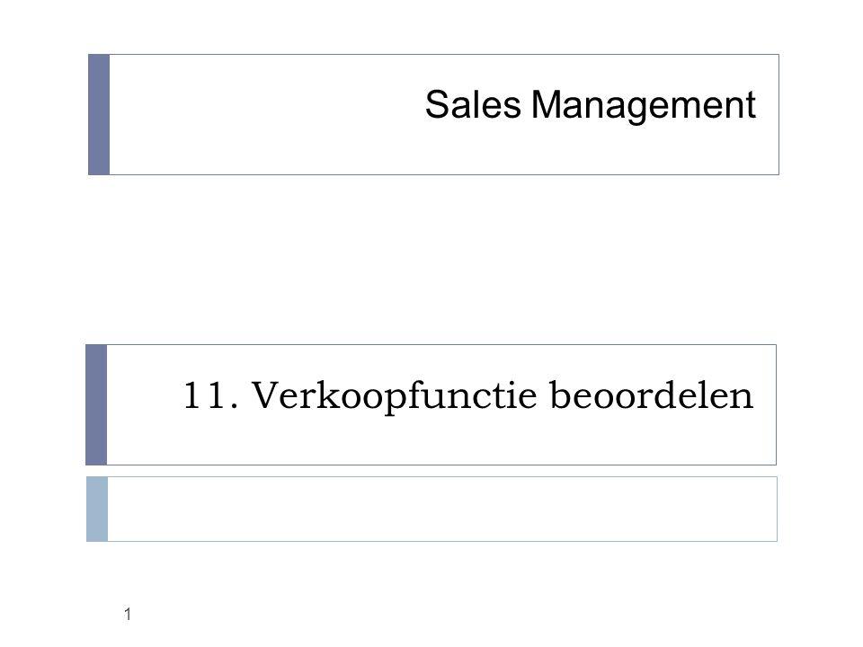 11. Verkoopfunctie beoordelen 1 Sales Management