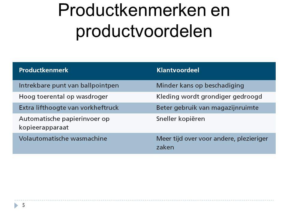 Productkenmerken en productvoordelen 5