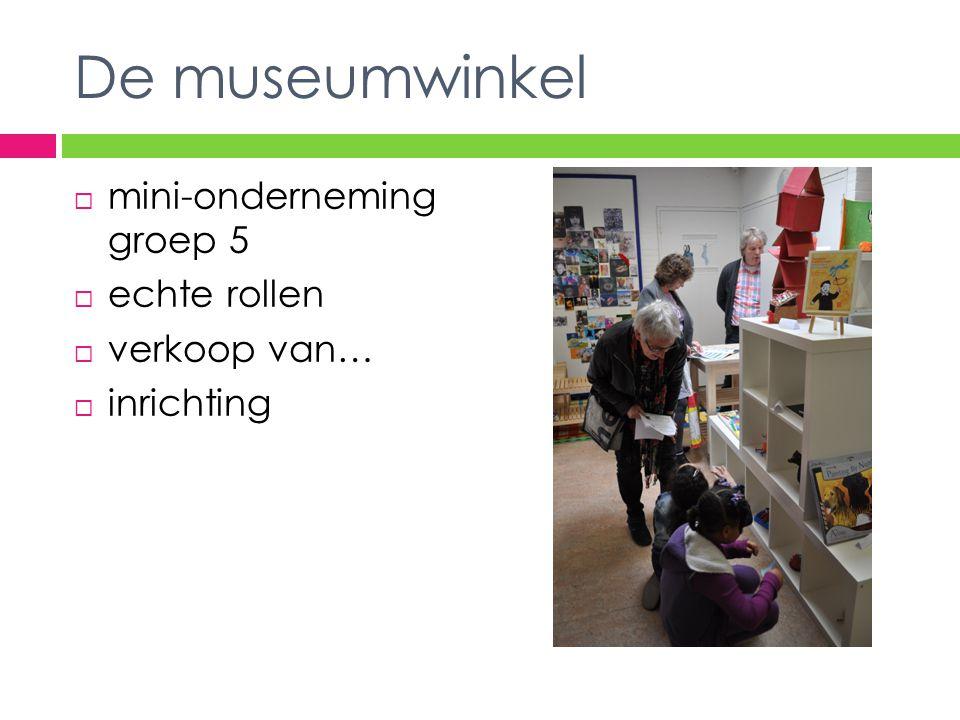 De museumwinkel  mini-onderneming groep 5  echte rollen  verkoop van…  inrichting