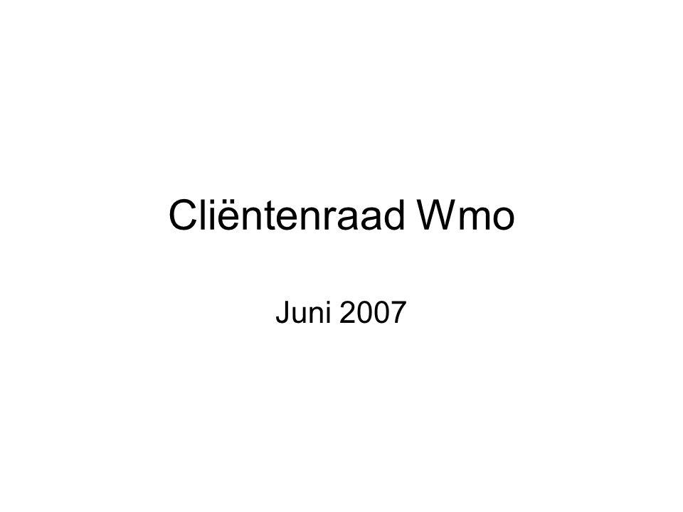 Cliëntenraad Wmo Juni 2007