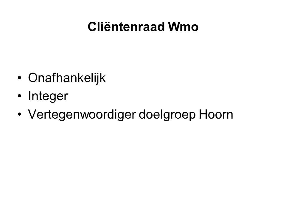 Cliëntenraad Wmo Onafhankelijk Integer Vertegenwoordiger doelgroep Hoorn