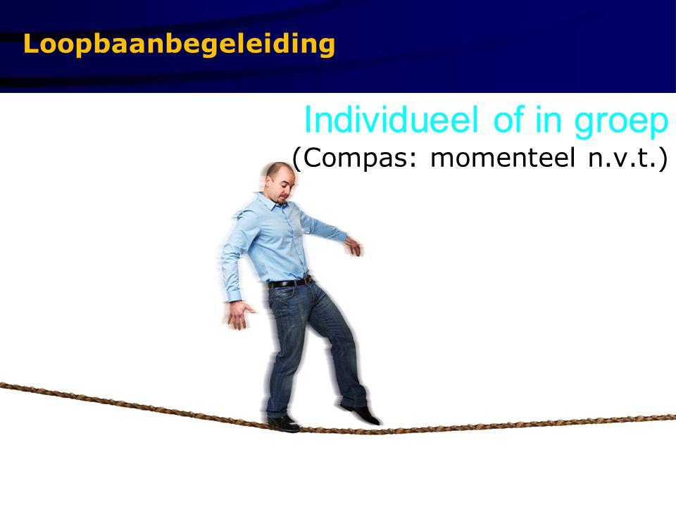Loopbaanbegeleiding Individueel of in groep (Compas: momenteel n.v.t.)