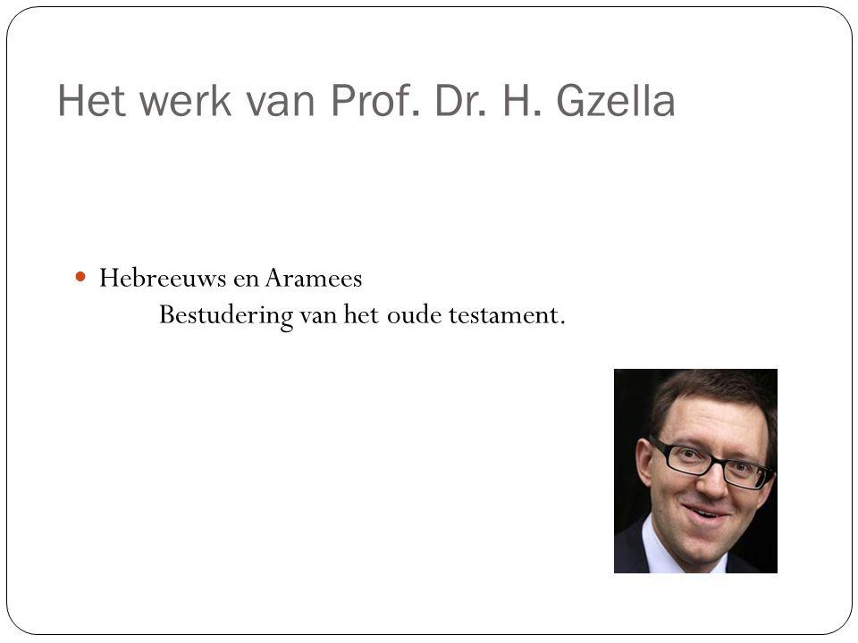 Het werk van Prof. Dr. H. Gzella Hebreeuws en Aramees Bestudering van het oude testament.