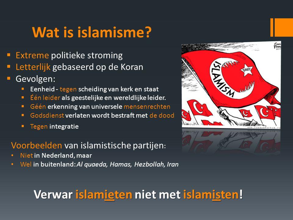Wat is islamisme.