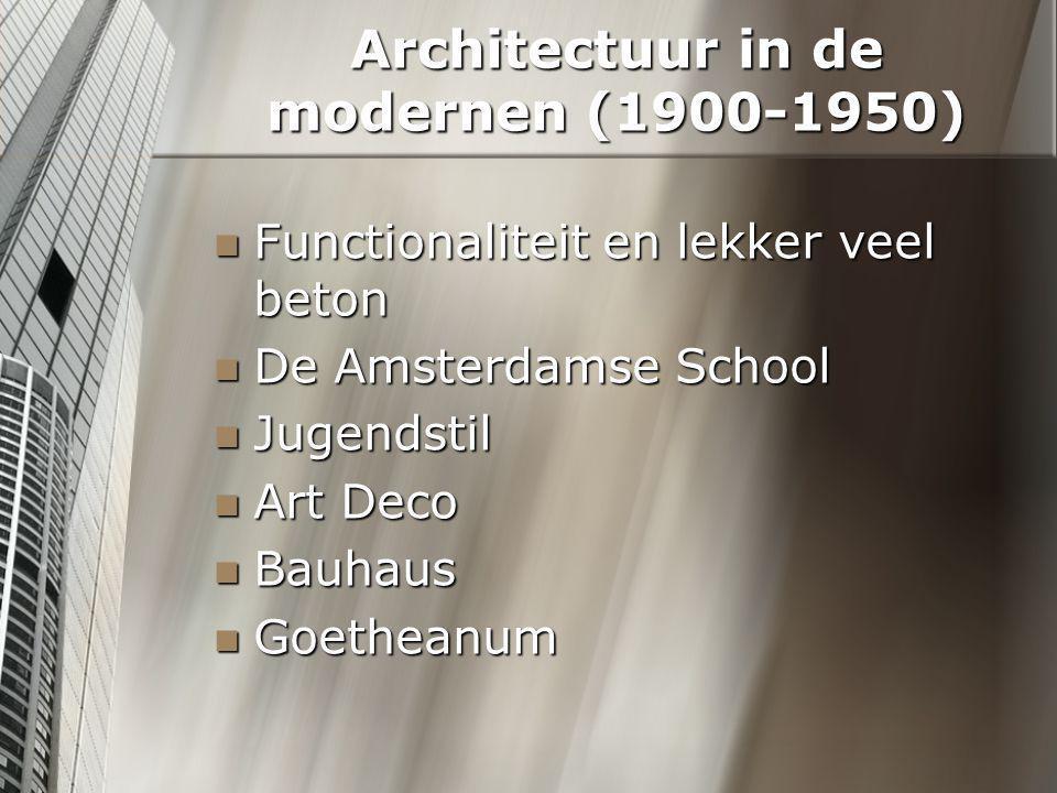 Functionaliteit en lekker veel beton Form follows function -Louis Sullivan Een modern ontwerp is goed als het onversierd en functioneel is.