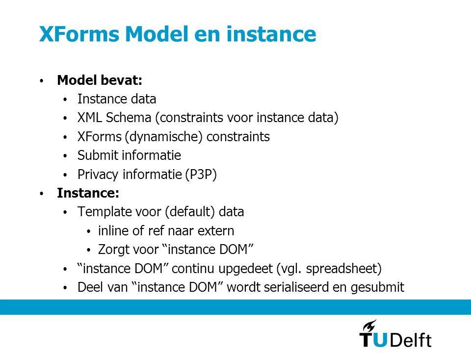 XForms Model - voorbeeld >1 instances en submissions mogelijk