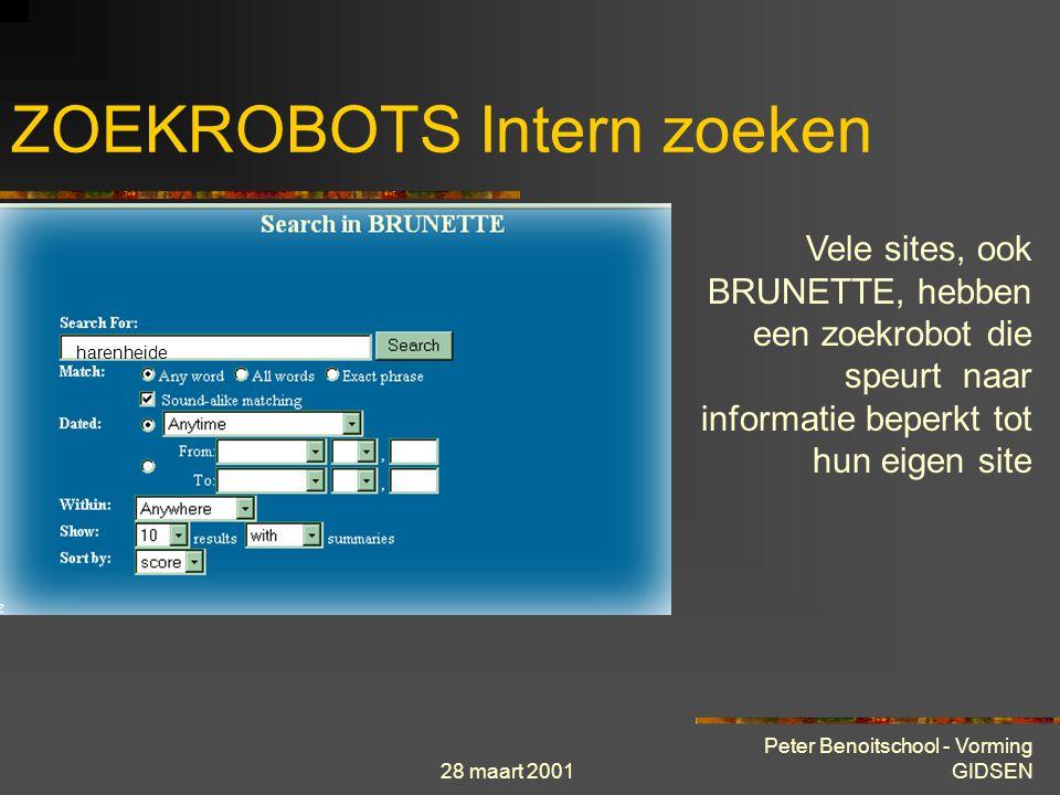 28 maart 2001 Peter Benoitschool - Vorming GIDSEN Vragen ?