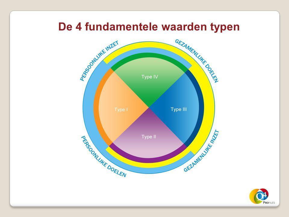 De 4 fundamentele waarden typen