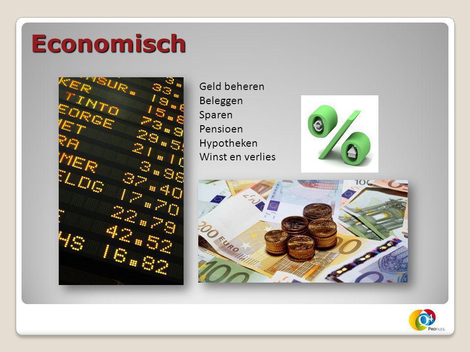 Economisch Geld beheren Beleggen Sparen Pensioen Hypotheken Winst en verlies