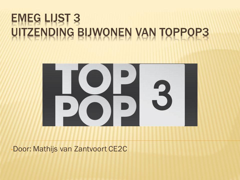 Elke zaterdagavond 20:00 AVRO Nederland 3 Gerard Ekdom Hedendaagse Popmuziek Optredens Desmet studio