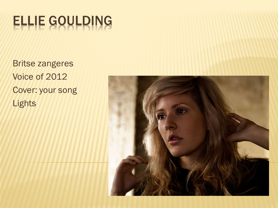 Britse zangeres Voice of 2012 Cover: your song Lights