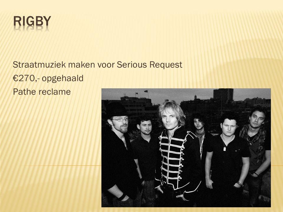 Straatmuziek maken voor Serious Request €270,- opgehaald Pathe reclame