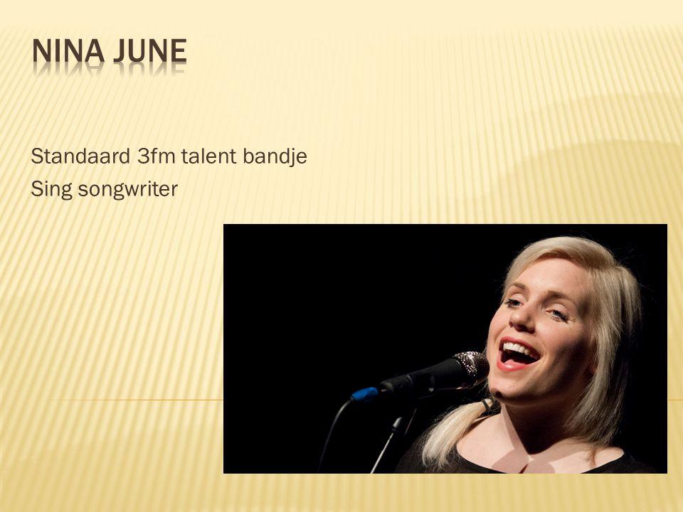 Standaard 3fm talent bandje Sing songwriter