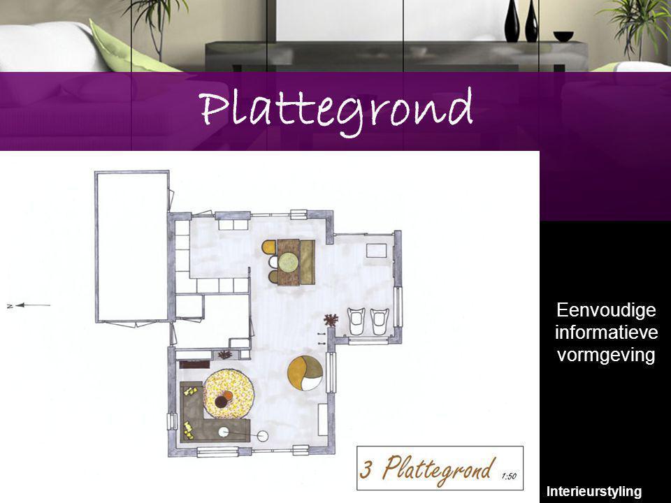 9 Plattegrond Eenvoudige informatieve vormgeving Interieurstyling 9