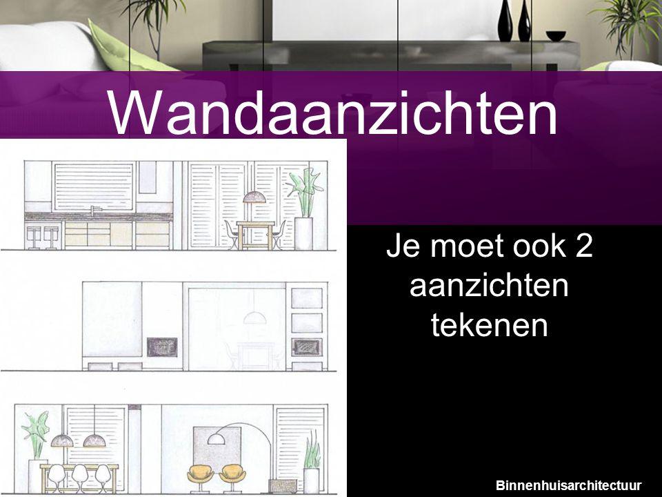 11 Wandaanzichten Je moet ook 2 aanzichten tekenen Binnenhuisarchitectuur