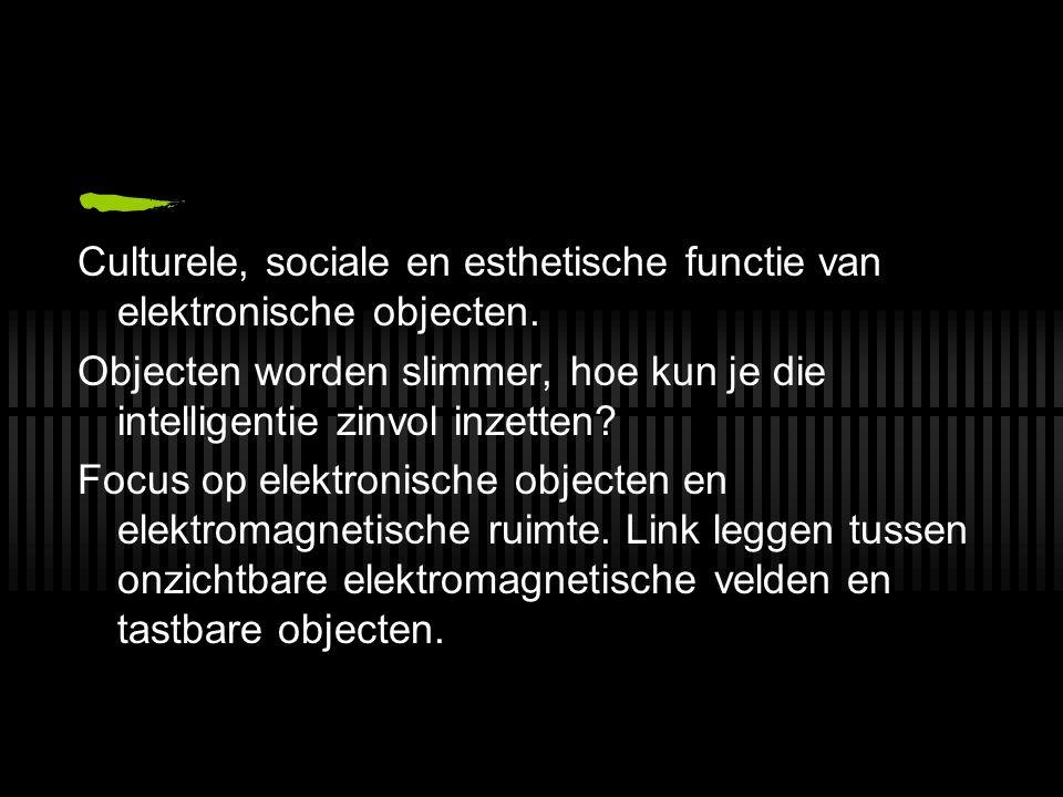 Culturele, sociale en esthetische functie van elektronische objecten.