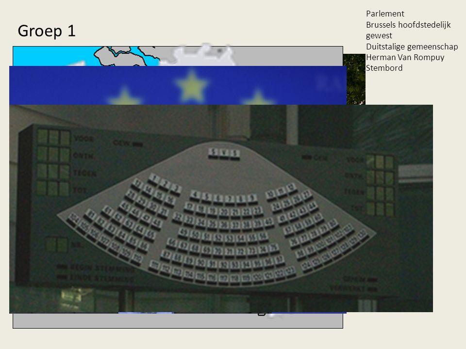 Parlement Brussels hoofdstedelijk gewest Duitstalige gemeenschap Herman Van Rompuy Stembord