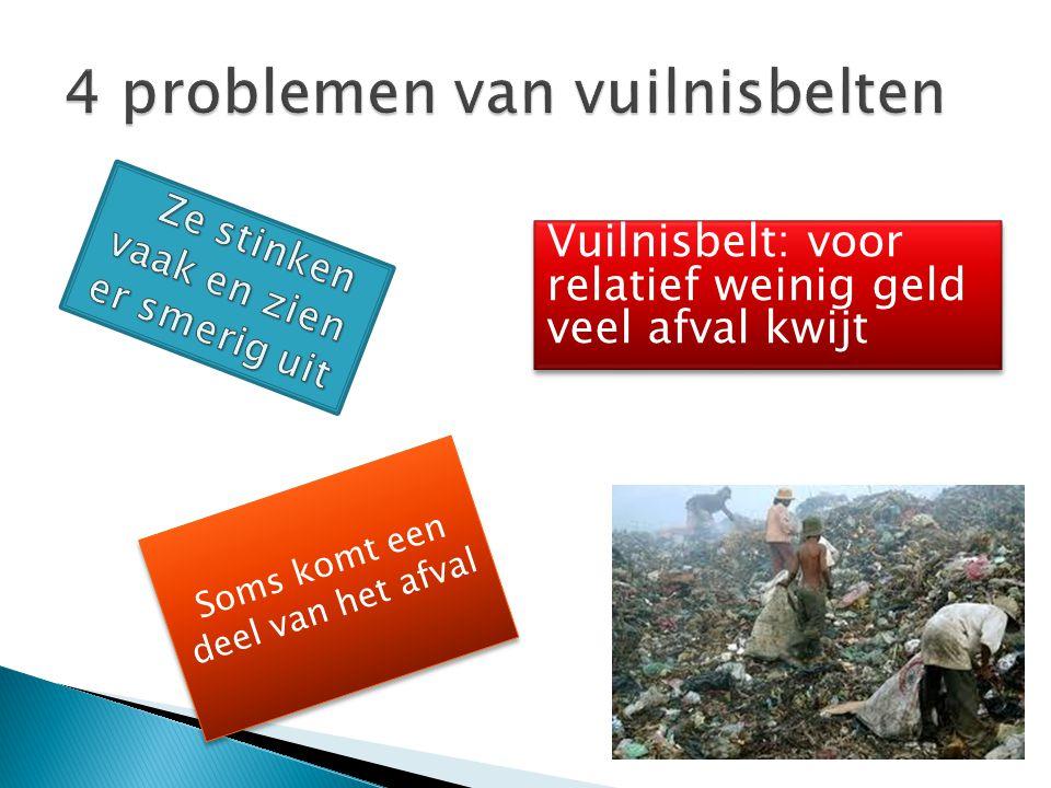 Soms komt een deel van het afval Vuilnisbelt: voor relatief weinig geld veel afval kwijt