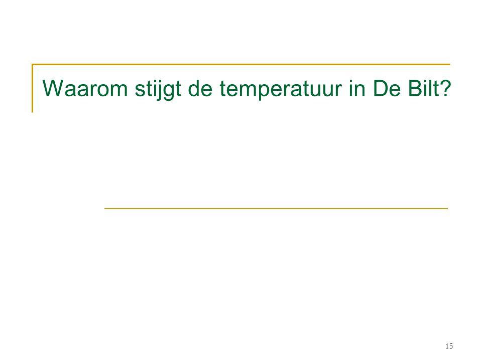 Waarom stijgt de temperatuur in De Bilt? 15