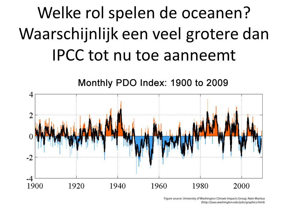 Welke rol spelen de oceanen Waarschijnlijk een veel grotere dan IPCC tot nu toe aanneemt