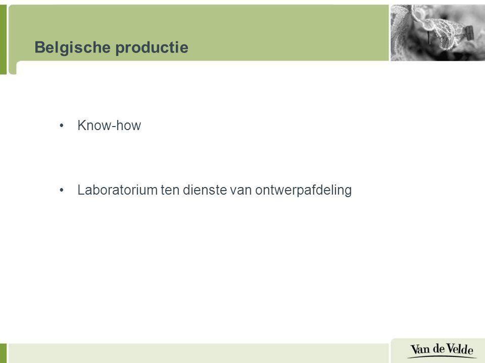 Belgische productie Know-how Laboratorium ten dienste van ontwerpafdeling