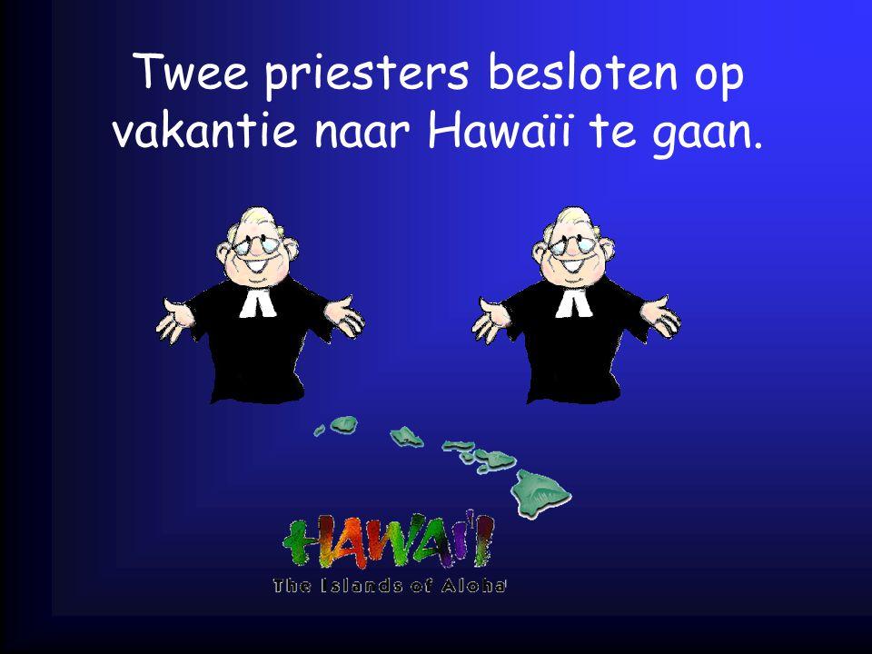 Twee priesters besloten op vakantie naar Hawaïï te gaan.