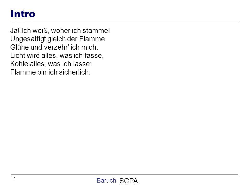 2 SCPA Baruch Intro Ja.Ich weiß, woher ich stamme.