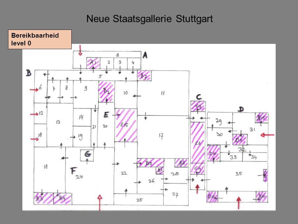 Neue Staatsgallerie Stuttgart Bereikbaarheid level 0
