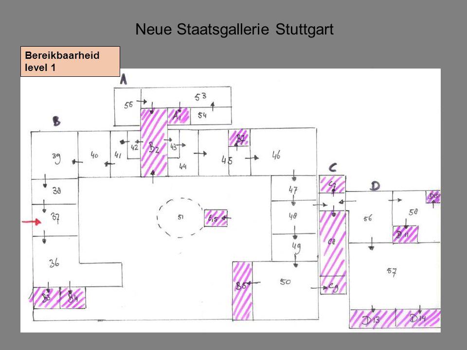 Neue Staatsgallerie Stuttgart Bereikbaarheid level 1