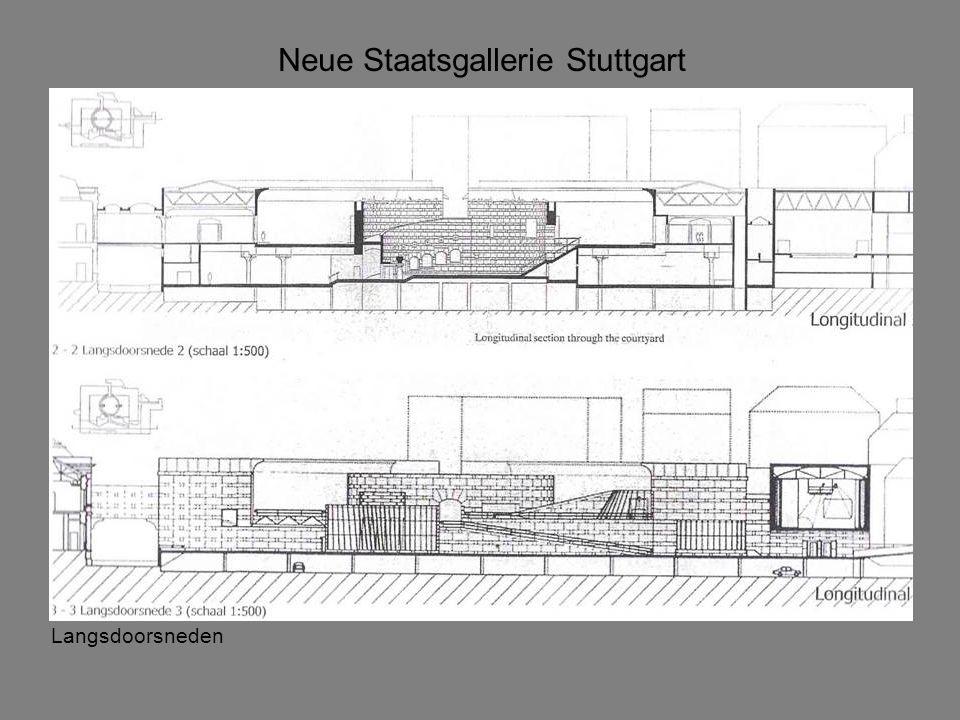 Langsdoorsneden Neue Staatsgallerie Stuttgart