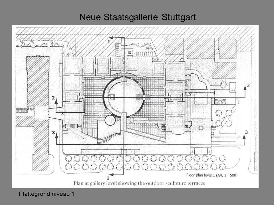 Neue Staatsgallerie Stuttgart Plattegrond niveau 1