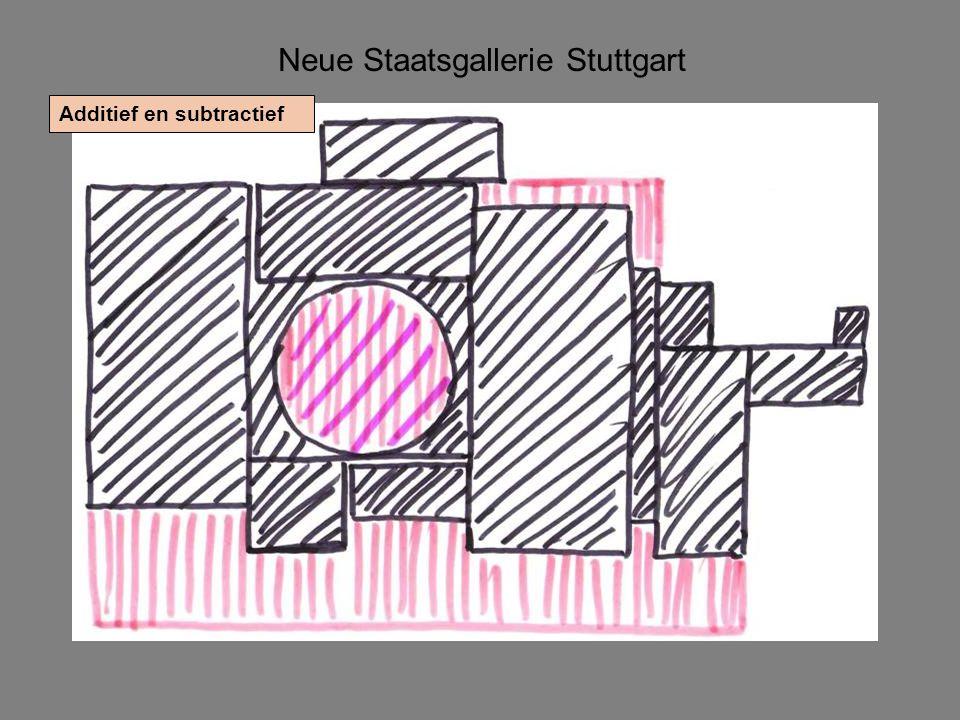 Neue Staatsgallerie Stuttgart Additief en subtractief