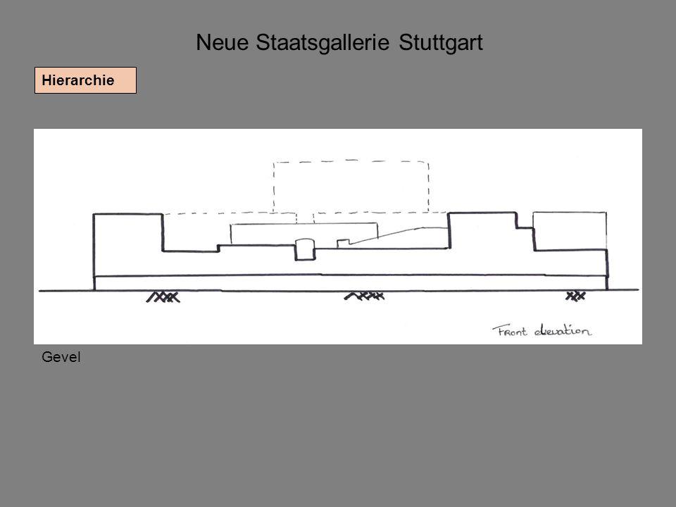 Neue Staatsgallerie Stuttgart Hierarchie Gevel