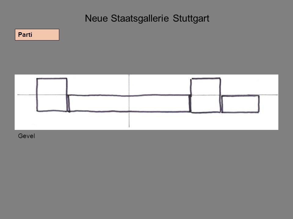 Neue Staatsgallerie Stuttgart Parti Gevel