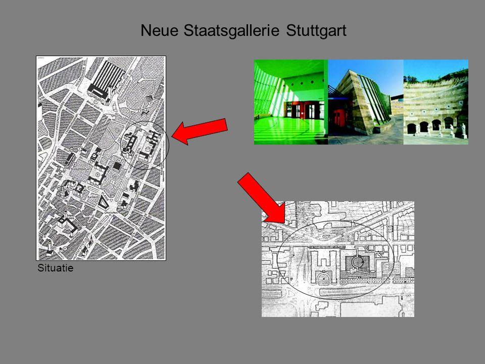 Neue Staatsgallerie Stuttgart Geometrie Plattegrond
