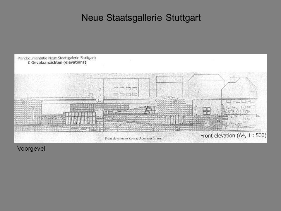 Neue Staatsgallerie Stuttgart Hierarchie Plattegrond