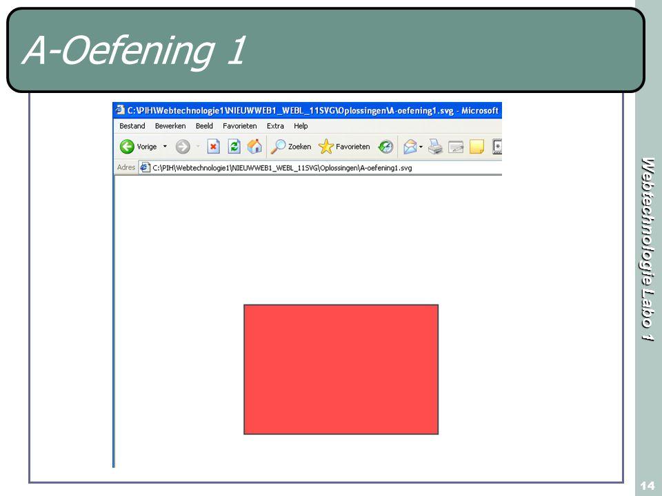 Webtechnologie Labo 1 14 A-Oefening 1