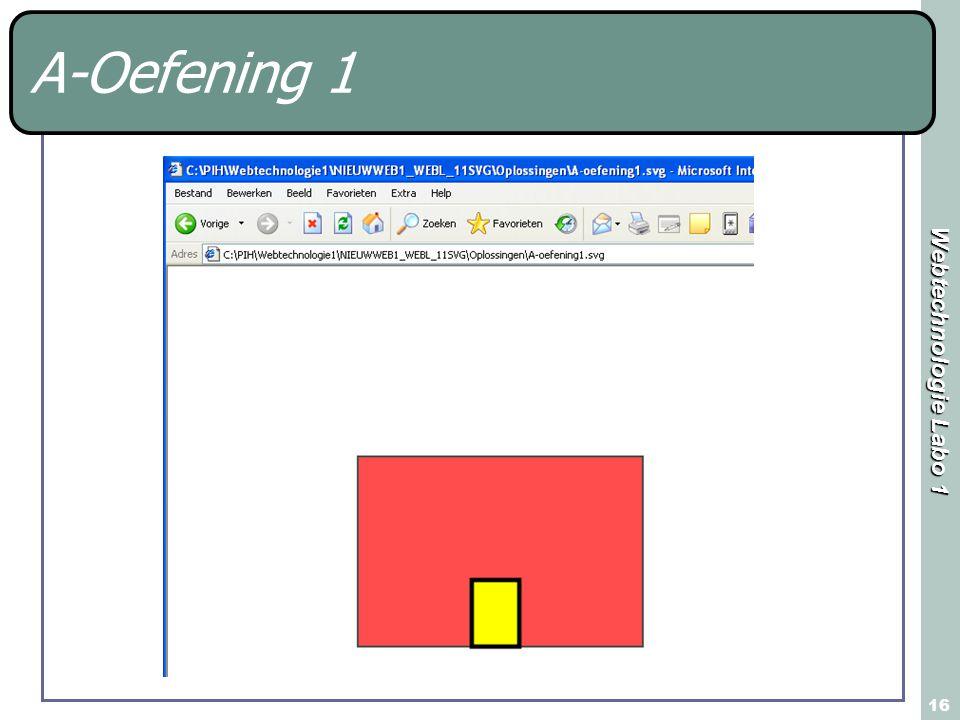 Webtechnologie Labo 1 16 A-Oefening 1
