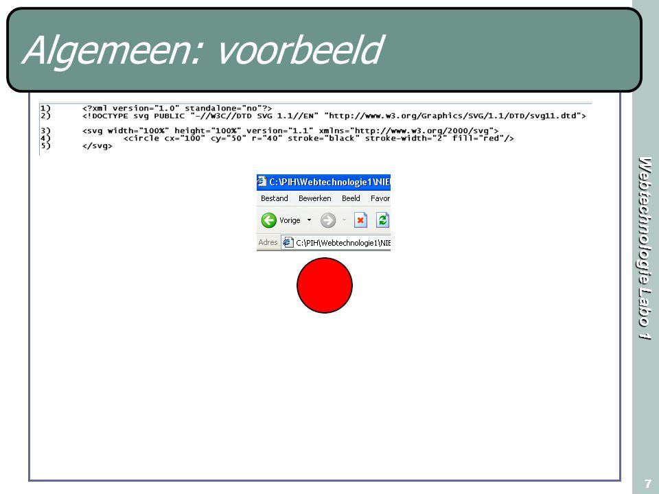 Webtechnologie Labo 1 7 Algemeen: voorbeeld