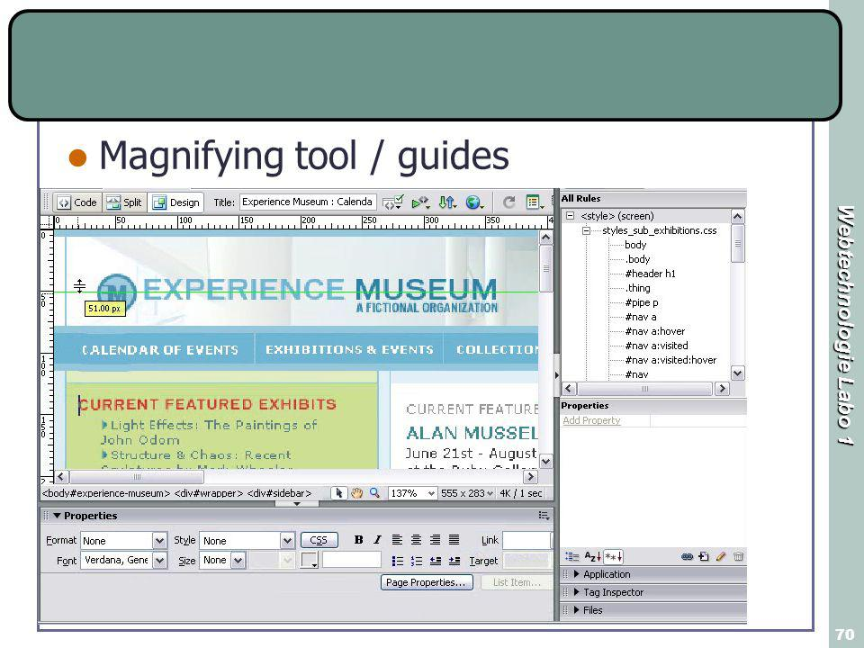 Webtechnologie Labo 1 70 Magnifying tool / guides