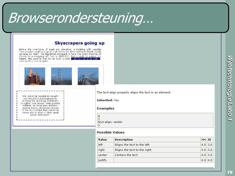 Webtechnologie Labo 1 79 Browserondersteuning…